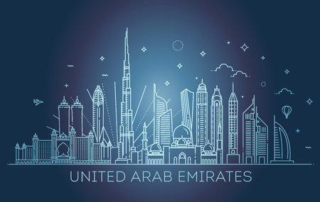 Linear banner of United Arab Emirates Imagens - 98216966