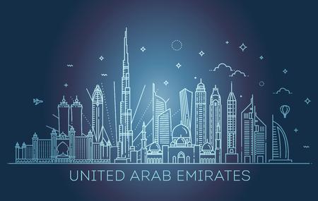 bannière linéaire des emirats arabes unis