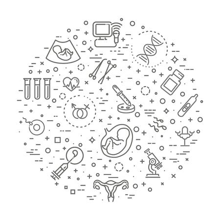 Medical, gynecology banner illustration