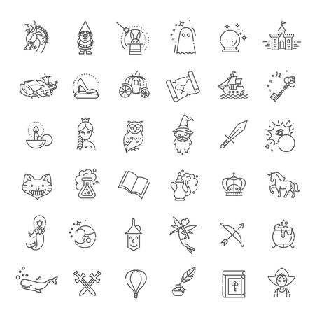 Simple Set of Fantasy Related Vector Line Icon Reklamní fotografie - 115597552