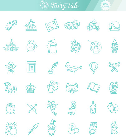 Simple Set of Fantasy Related Vector Line Icon 向量圖像