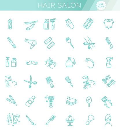 Hair Salon and beauty salon vector icons