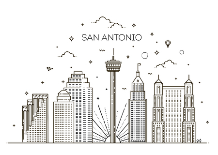 San Antonio city skyline vector background