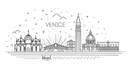 Venice city, illustration