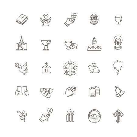 Christianity icon set. Religion related icons