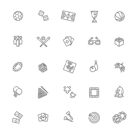 Set of sport icons. Vector Illustrations Banco de Imagens - 142141192