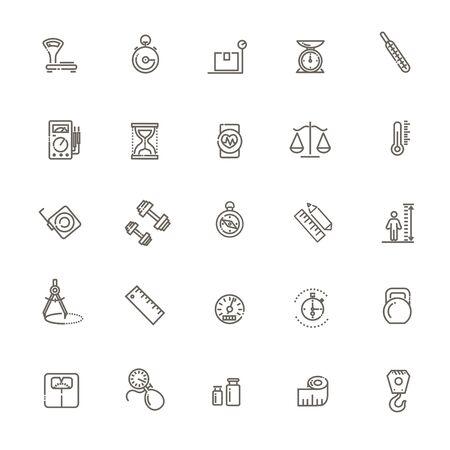 Web icon set - scales, weighing, weight balance