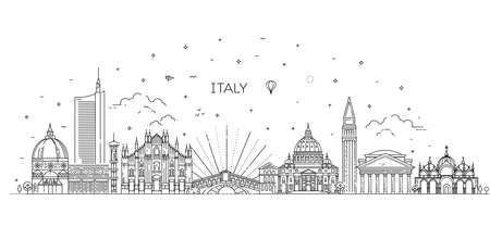 Linear vector icon for Italy