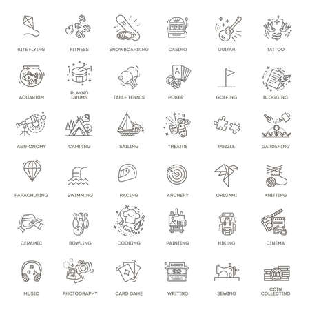 Line icons set in modern line icon style for ui, ux, web, app design