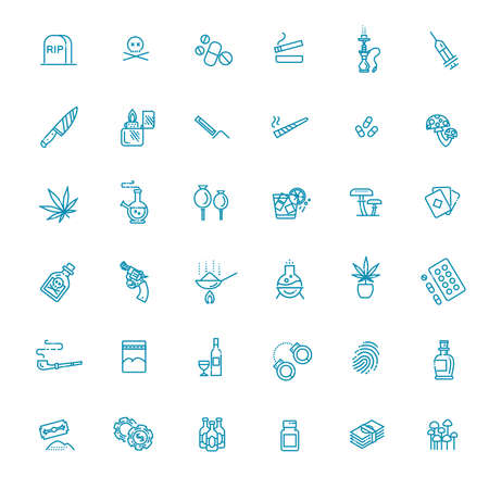 Simple Set of Crime Related Vector Line Icons Vectores