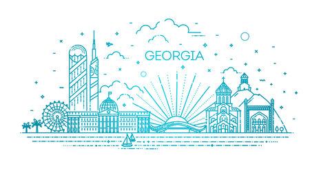 Georgia skyline composition for design