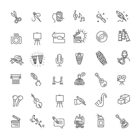 Line Arts Icons set. Vector linear icons