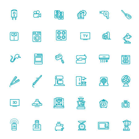 Home Appliances Vector line Icons
