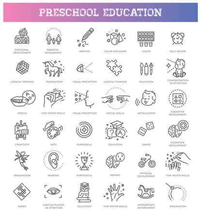 Preschool education. Kids development. Parenthood and childhood.