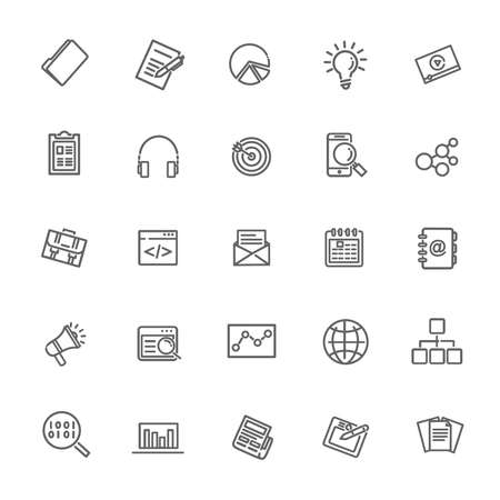 Icons for business, digital marketing.