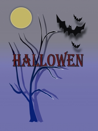 hallowen: Hallowen night with bats