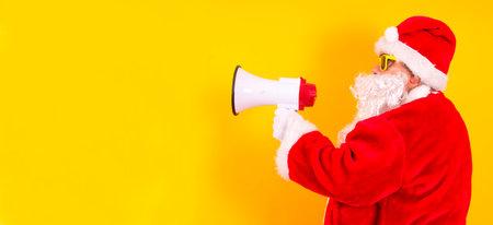 Santa Claus Talking With Megaphone