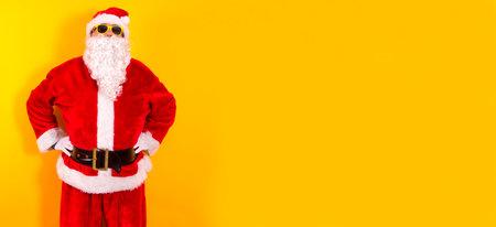 portrait of santa claus on color background Archivio Fotografico