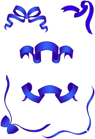 Banners and bows. Vector  illustration  Stock Vector - 5733294