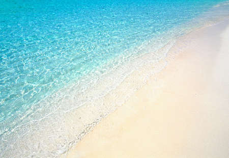 bask: blue tropical beach Stock Photo