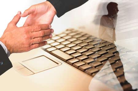 deals: modern business concept Stock Photo