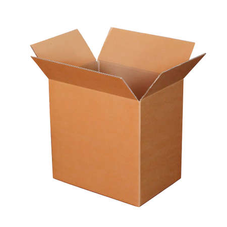 paperboard: empty paperboard box