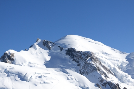 massif: Mont Blanc, view of the top