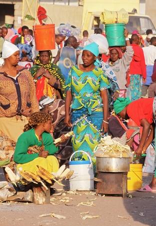 african village: African market Editorial