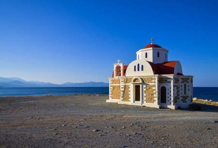 Little chappel by seaside