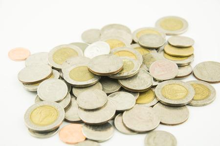 pennie: Money Coin thai bath on white background Stock Photo