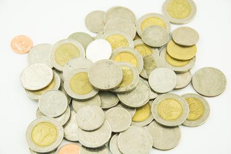 Money Coin thai bath on white background Stock Photo