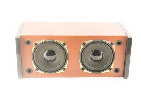 sub woofer: Speaker isolated on white background Stock Photo