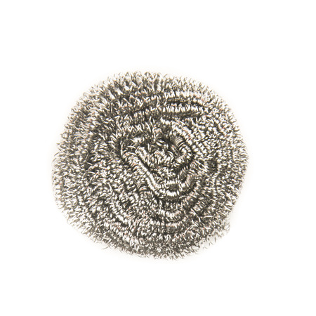 Steel wool pad isolated on white background.