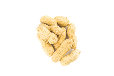 earthnut: Peanuts isolated over white background