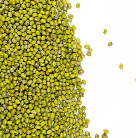 mung bean sprout: Mung beans isolated on white background Stock Photo