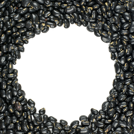 turtle bean: black beans  isolated on white background