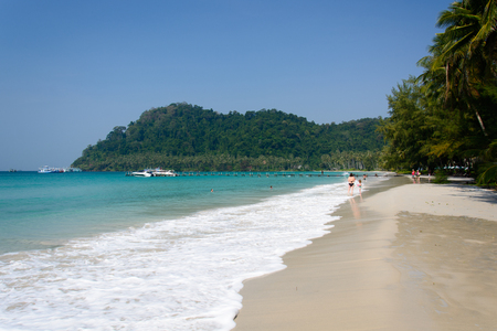 untouched: Untouched tropical beach in Thailand Stock Photo