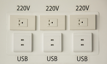 socket adapters: wall electric connection plug and phone charging port with cable wire charging