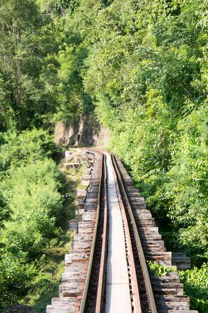 kanchanaburi: Railroad track,kanchanaburi,thailand