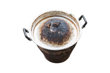 gridiron: thai barbecue gridiron stove not clean isolated on white