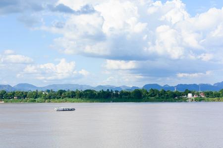 mekong: mekong river and bluesky,thailand