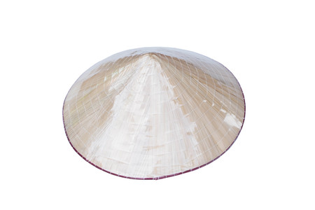 Vietnamese Conical Hat (Non La) isolated on white