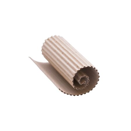 Roll cardboard isolated on white background