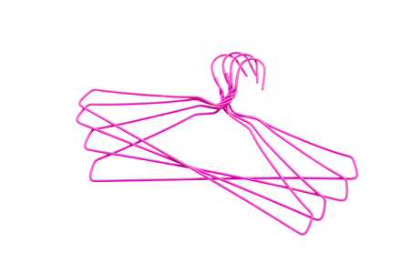 Clothes hanger isolated on white