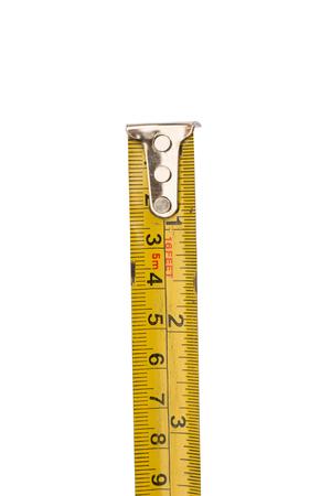 centimeters: Tape measure in centimeters.
