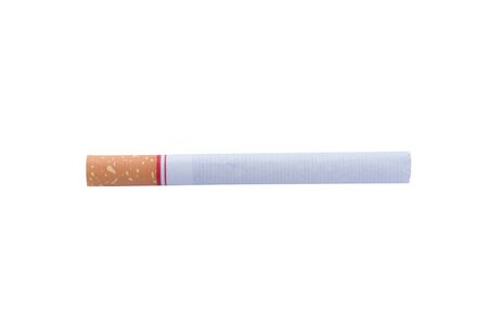 toxic substance: Cigarette isolated on a white background Stock Photo