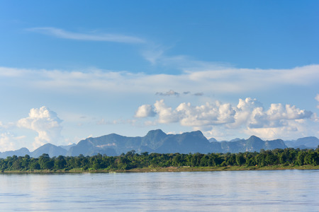 mekong river and bluesky,thailand
