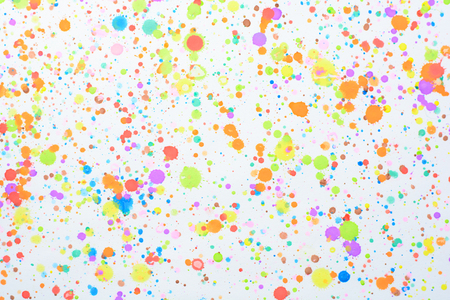 colorful splashes on a white background Stock Photo
