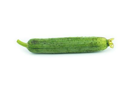 cylindrica: Sponge Gourd Vegetable Sponge( Luffa cylindrica) isolated on white background Stock Photo
