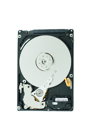 record office: hard disk isolated on white background Stock Photo